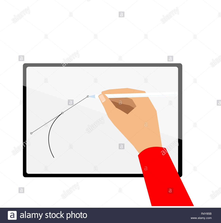 Dessin à La Main Vecteur Sur Nouvelle Tablette Illustration