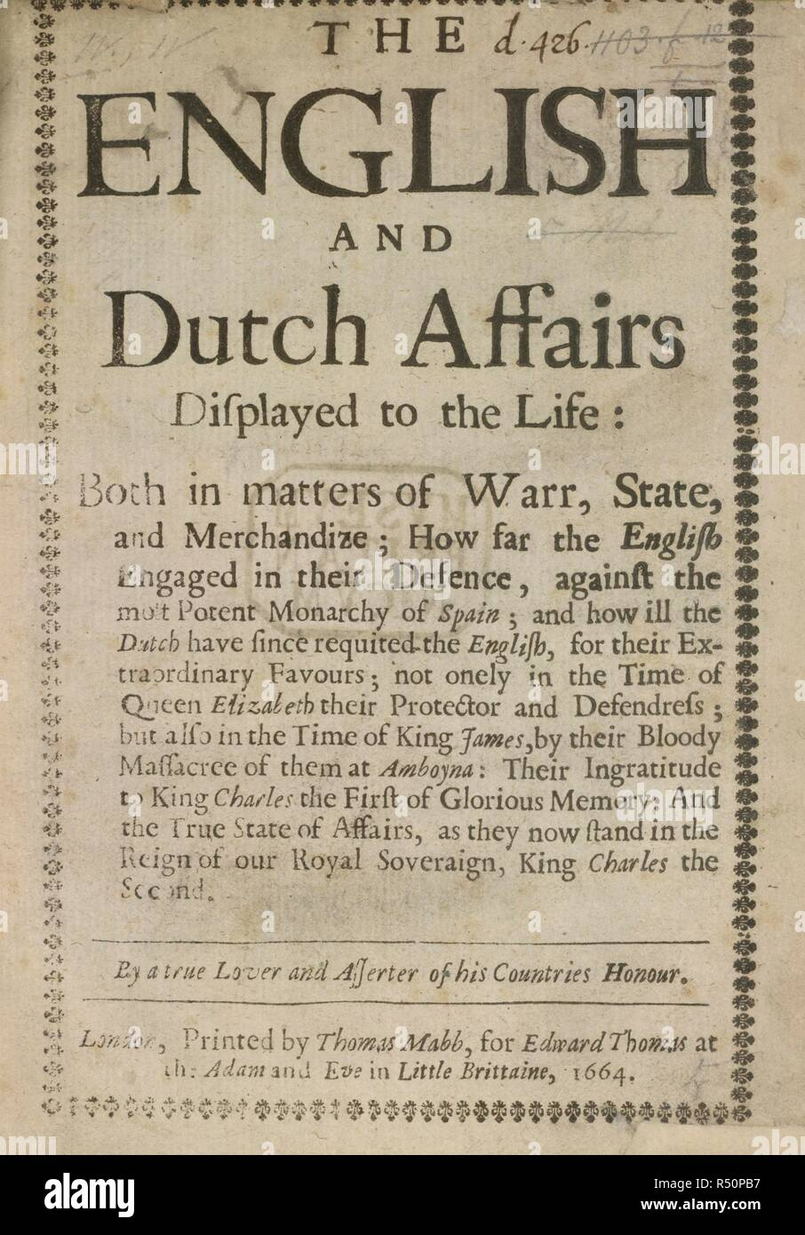 Anglais et néerlandais des affaires intérieures  L'anglais