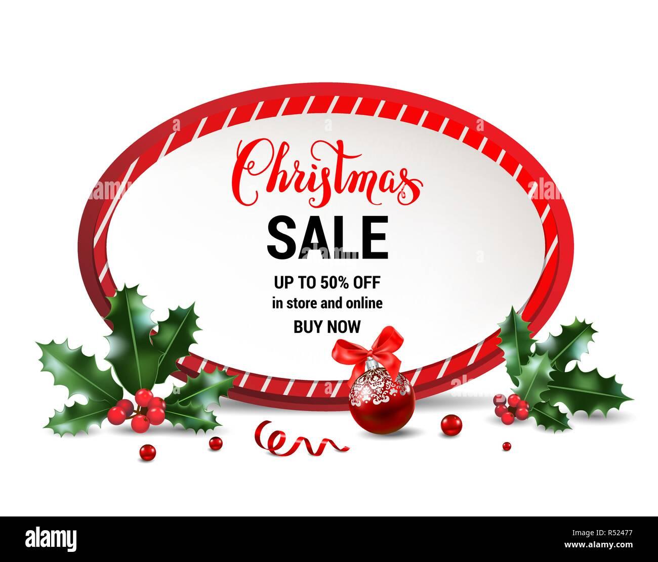 Vente De Noel Design Pour Banniere Billet Depliant Carte Visite Invitation