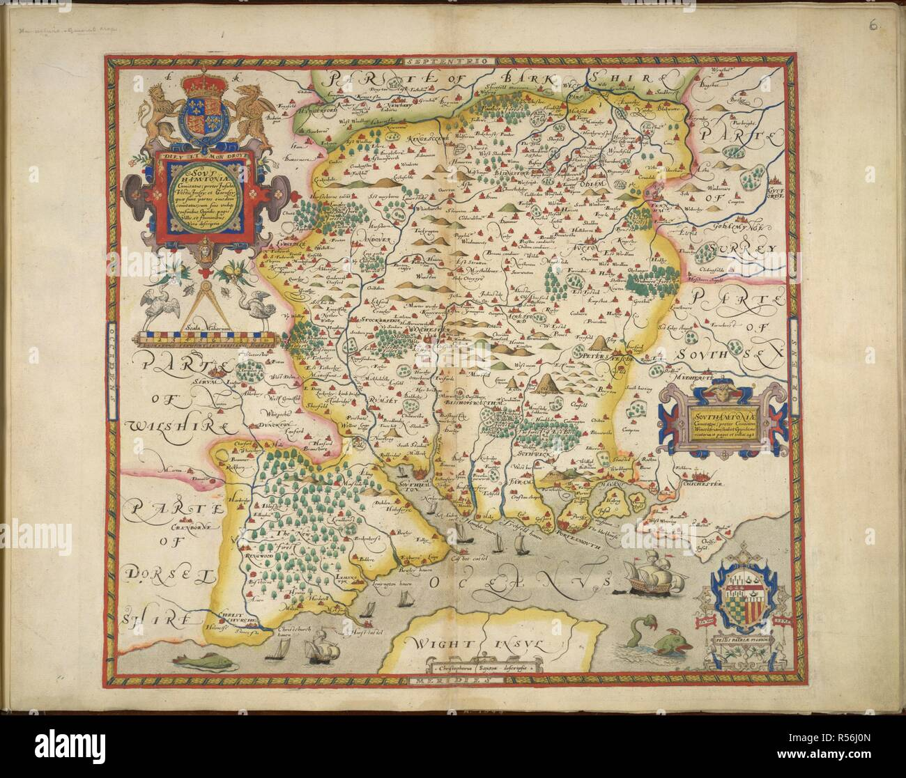 Carte Hampshire Angleterre.Le Hampshire Atlas Des Comtes D Angleterre Et Du Pays De