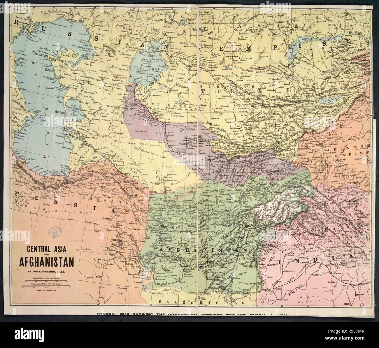 La Carte De Lasie Centrale.Une Carte De L Asie Centrale Et L Afghanistan L Asie