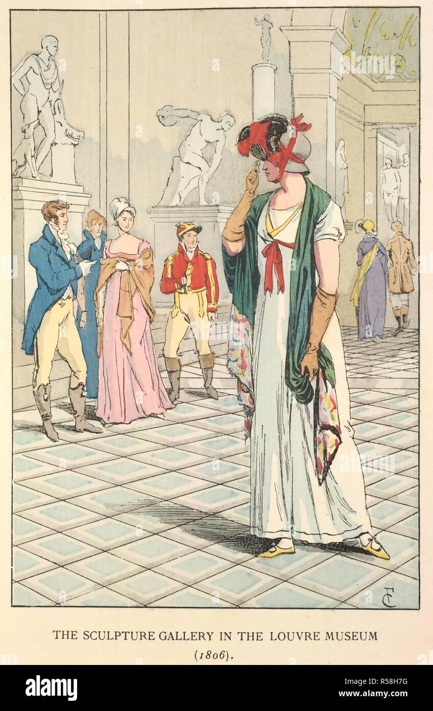 Dans le musée du Louvre. La mode à Paris   les différentes phases de t 586252ebb72