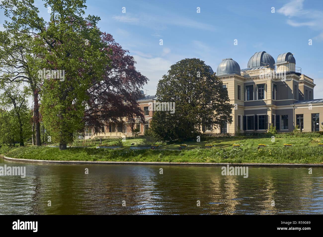Ancien observatoire astronomique, Oude Sterrewacht Leiden, Hollande méridionale, Pays-Bas Banque D'Images