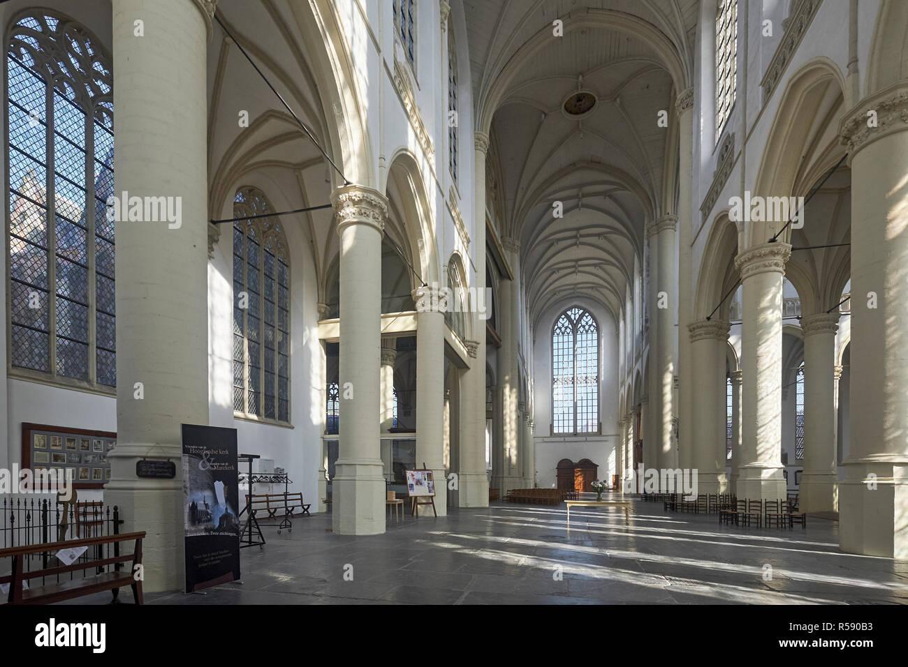 Hooglandse Kerk, Leiden, Hollande méridionale, Pays-Bas Banque D'Images