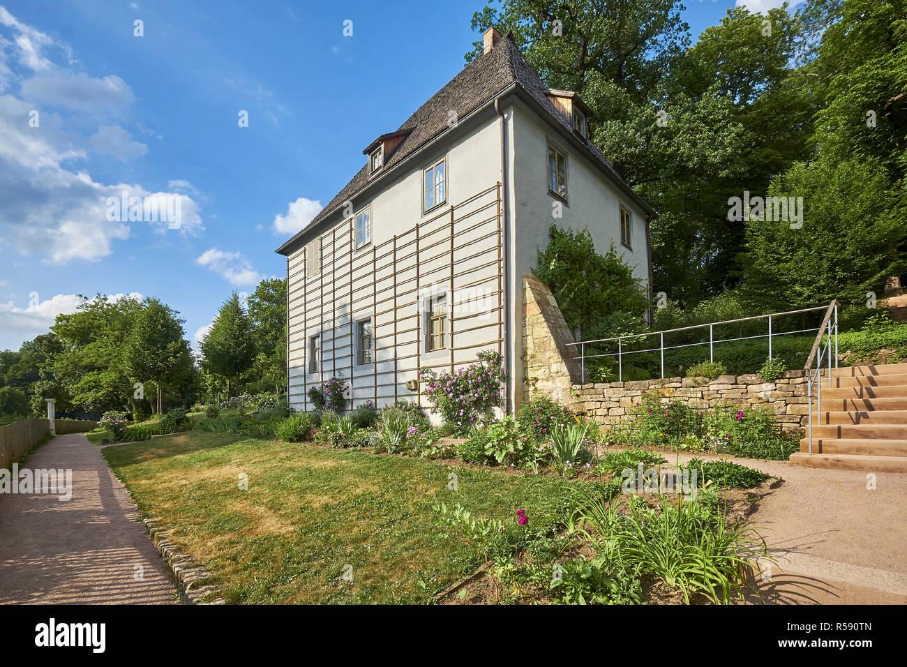 Goethe garden house dans le parc sur l'ILM, Weimar, Thuringe Banque D'Images