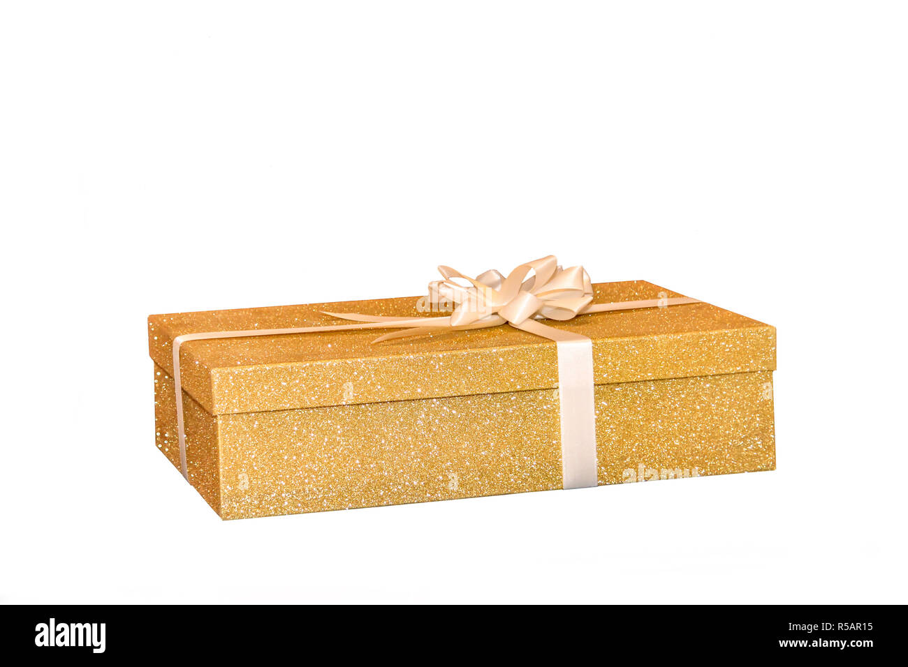 Boite Cadeau D Or De Mariage Anniversaire Noel Banque D