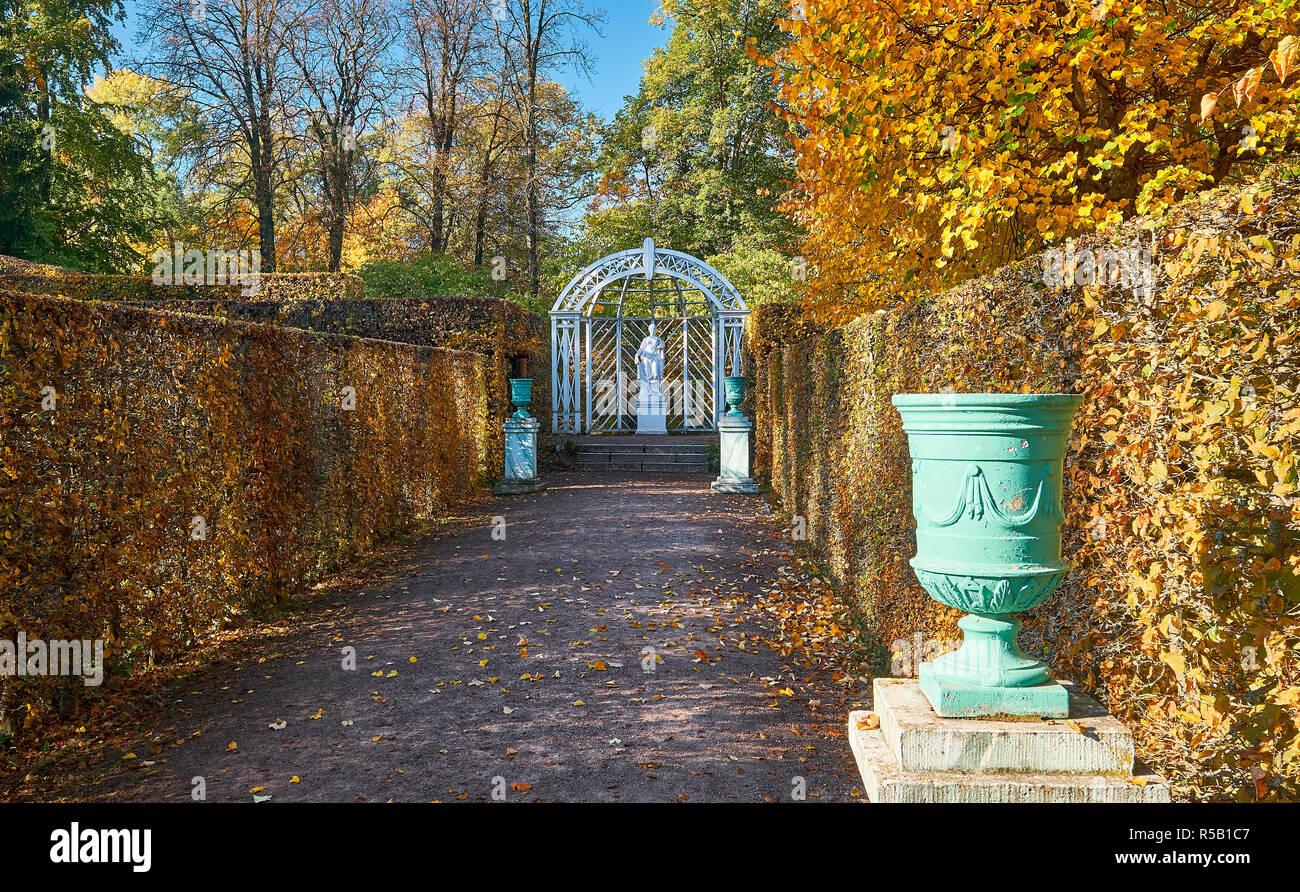 Jardin russe avec la flore, Château du Belvédère, Weimar, Thuringe, Allemagne Banque D'Images