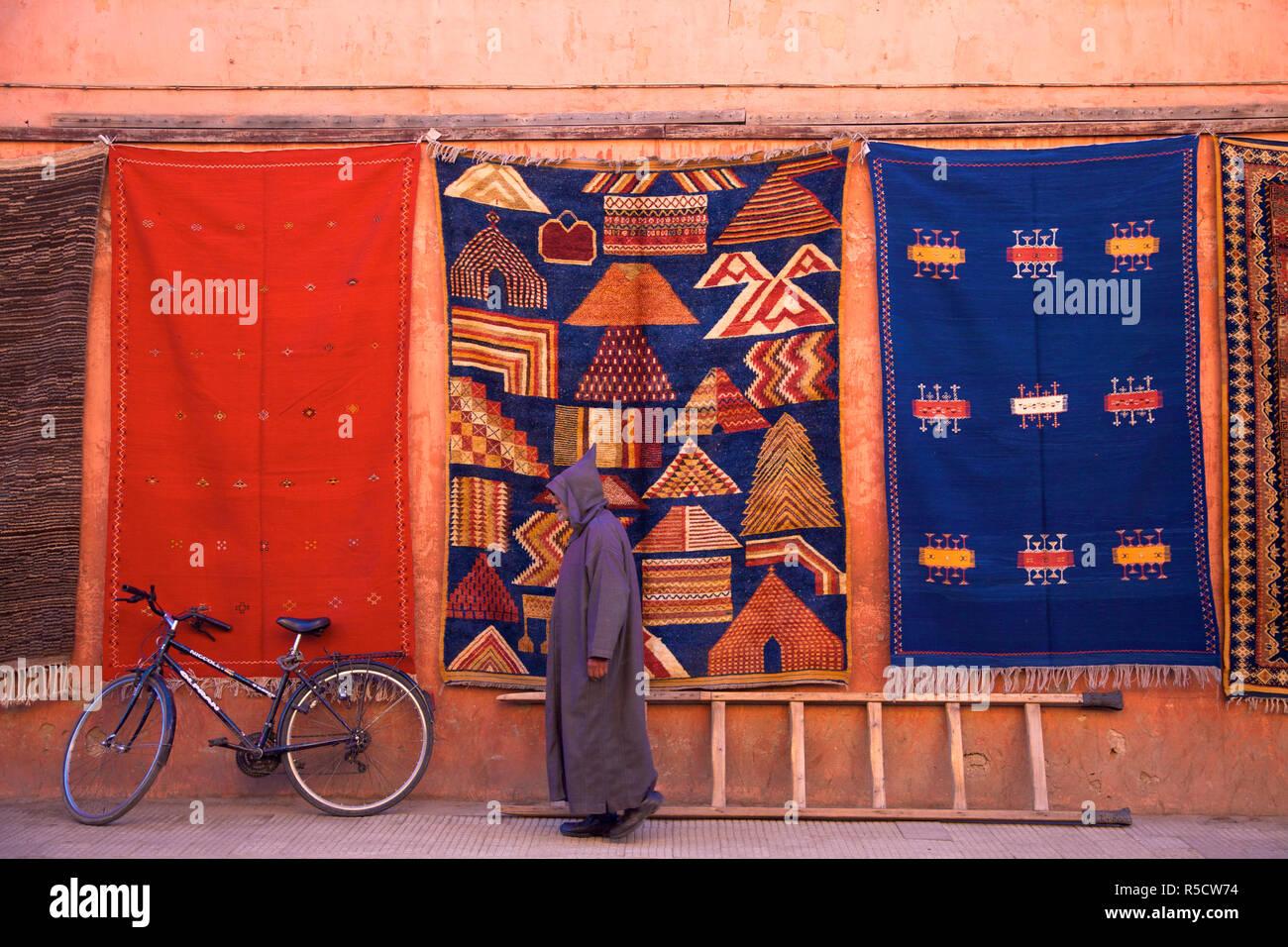 Boutique De Tapis Marrakech Maroc Afrique Du Nord Banque D Images