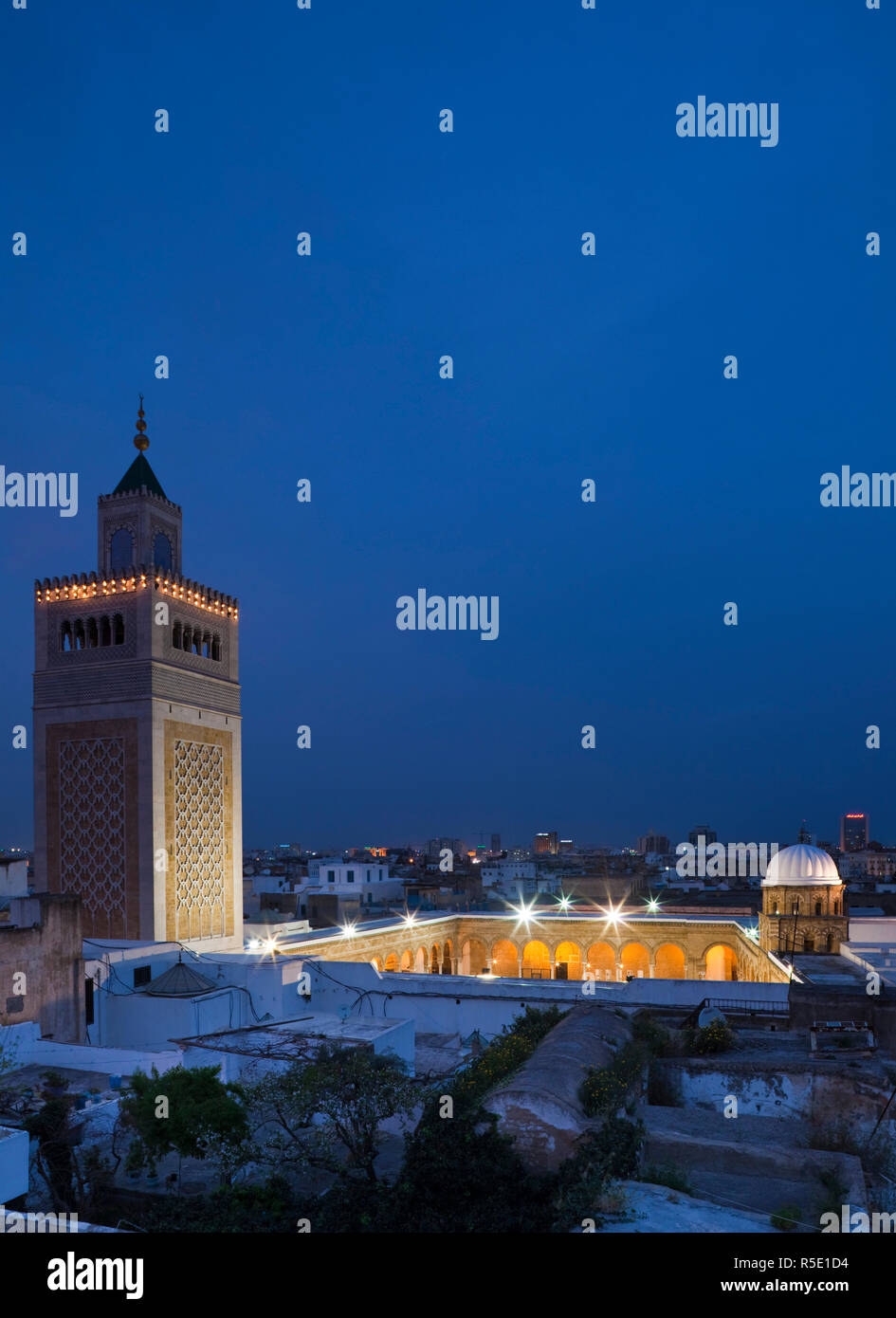 Tunisie, Tunis, Medina, mosquée Zaytouna-Great Photo Stock