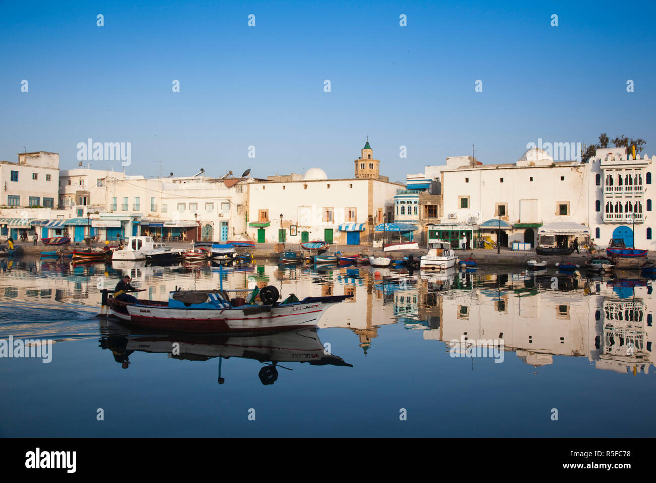 La Tunisie, le nord de la Tunisie, Bizerte, Vieux Port Photo Stock