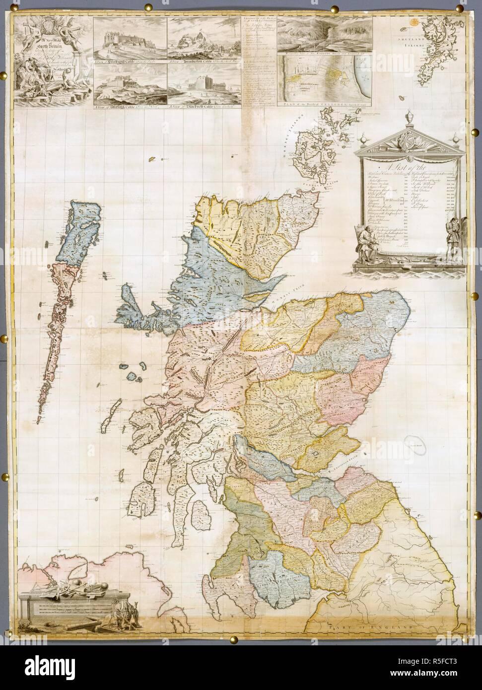 Carte Angleterre Grande Bretagne.Le Nord De La Grande Bretagne Une Carte En Couleur De L