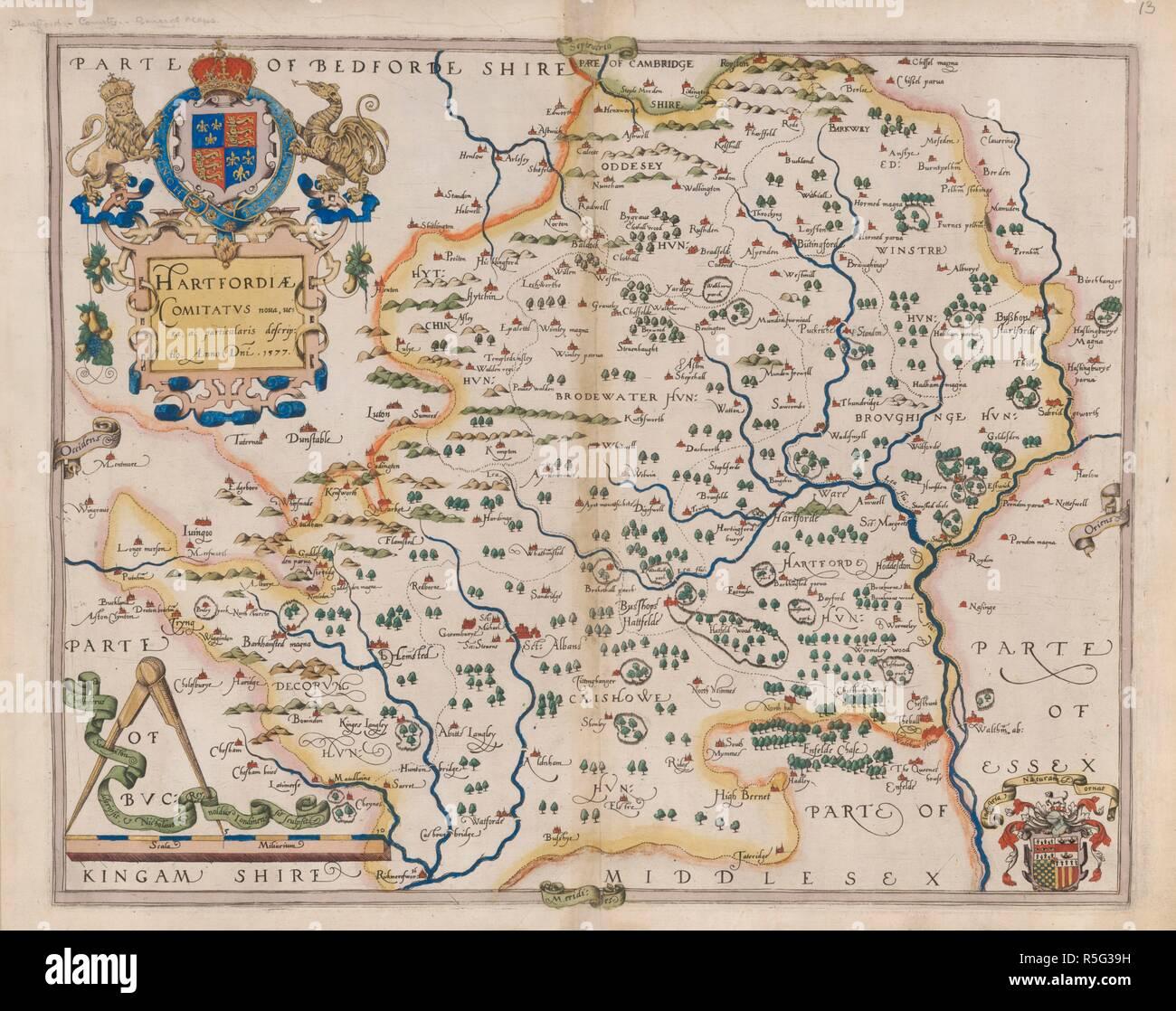 Carte Dangleterre.Le Hertfordshire Atlas Des Comtes D Angleterre Et Du Pays