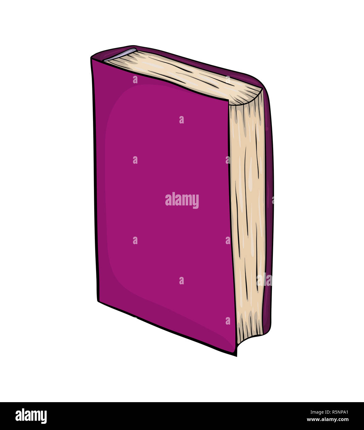 Livre Ferme Cartoon Vector Icone Symbole Permanent De La