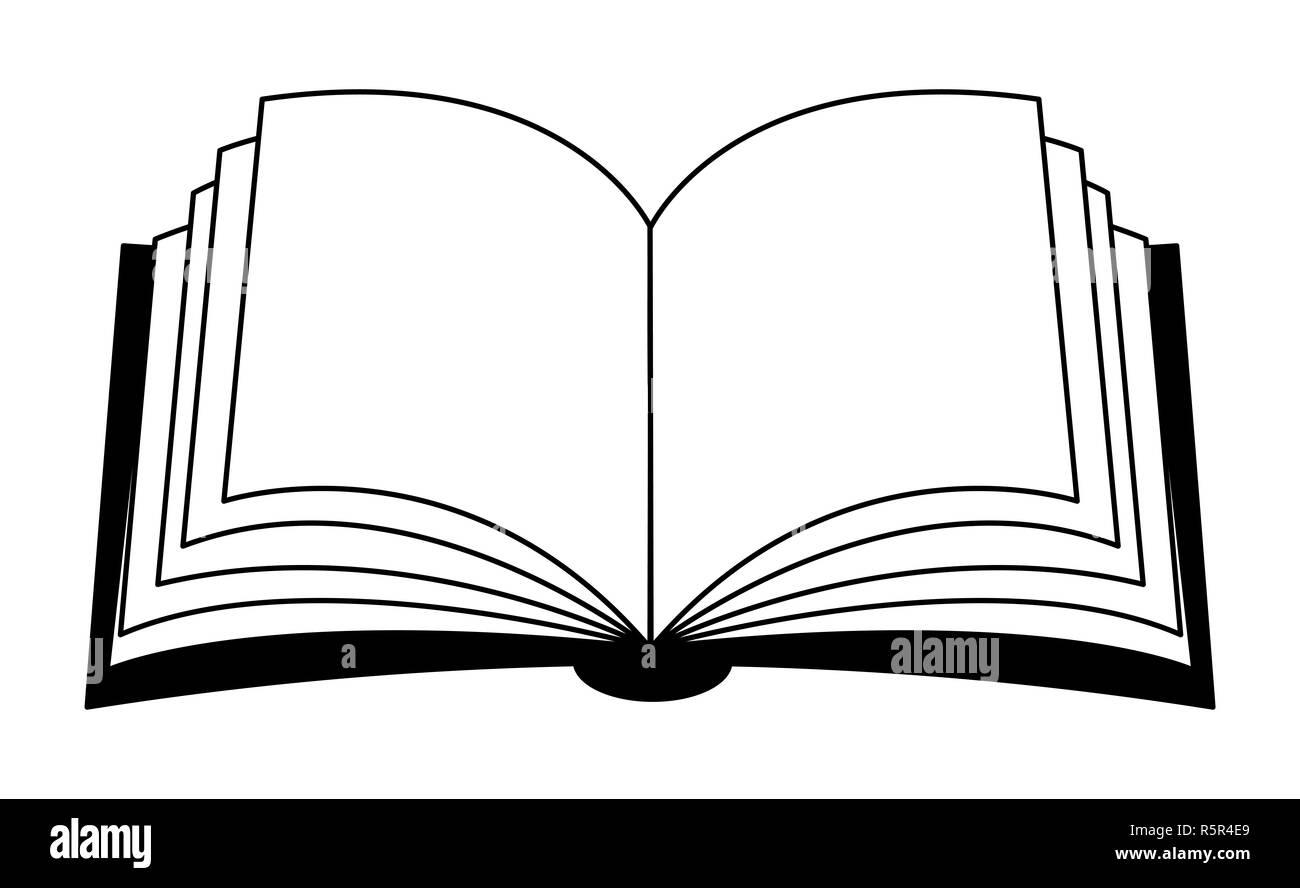 Clipart Vecteur De Livre Ouvert D Ossature Symbole Icone