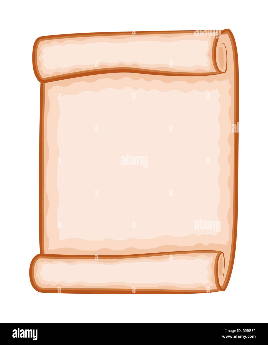 Defilement Papier Vecteur Clipart Isole Sur Fond Blanc Parchemin Vierge Vide Enroule A Faire Defiler Vieux Papier Texture Feuille Photo Stock Alamy