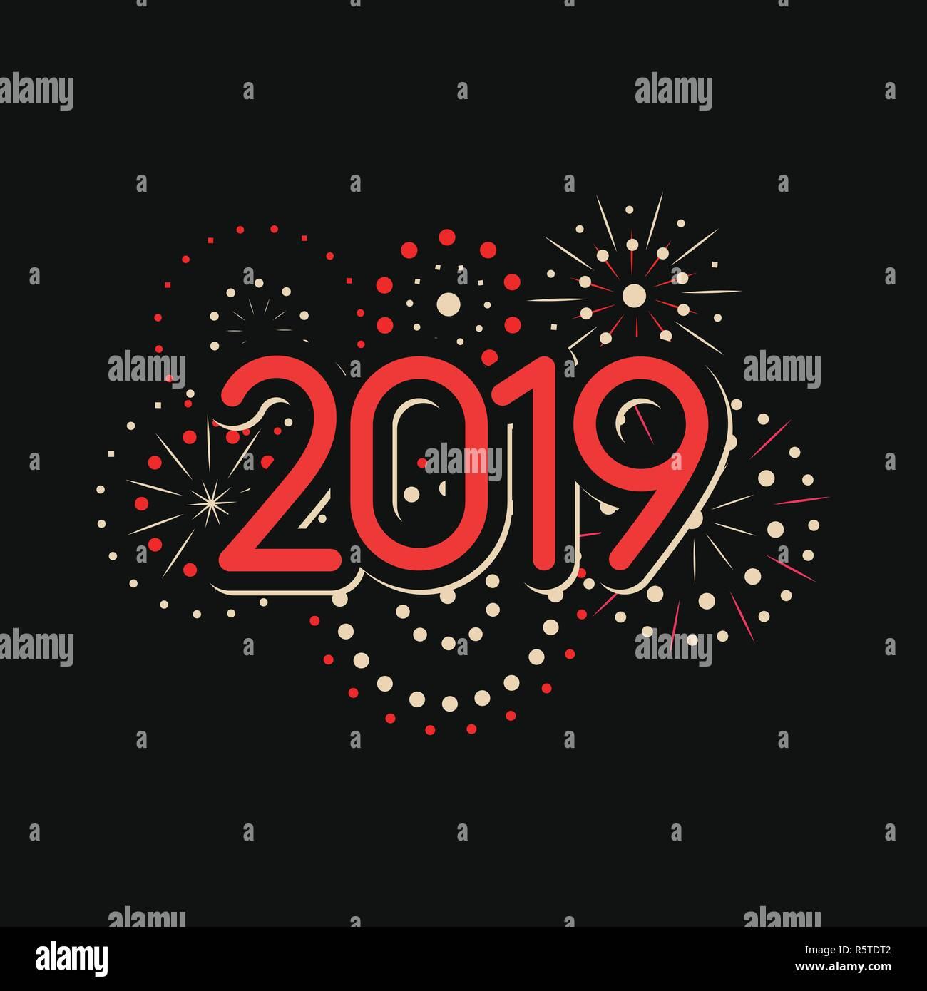 Bonne Annee 2019 Avec Theme D Artifice Le Nouvel An Chinois 2019