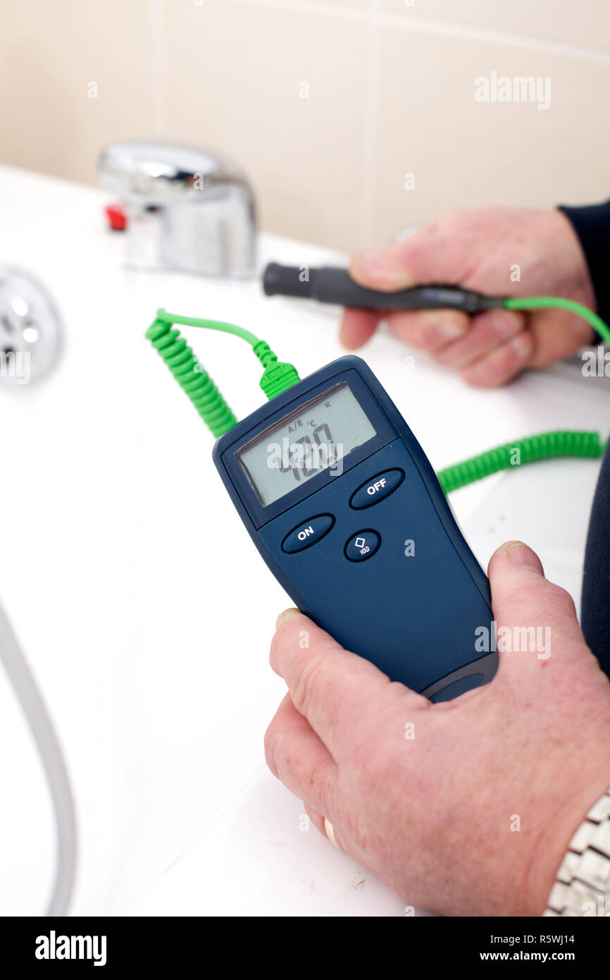Thermomètre numérique Photo Stock