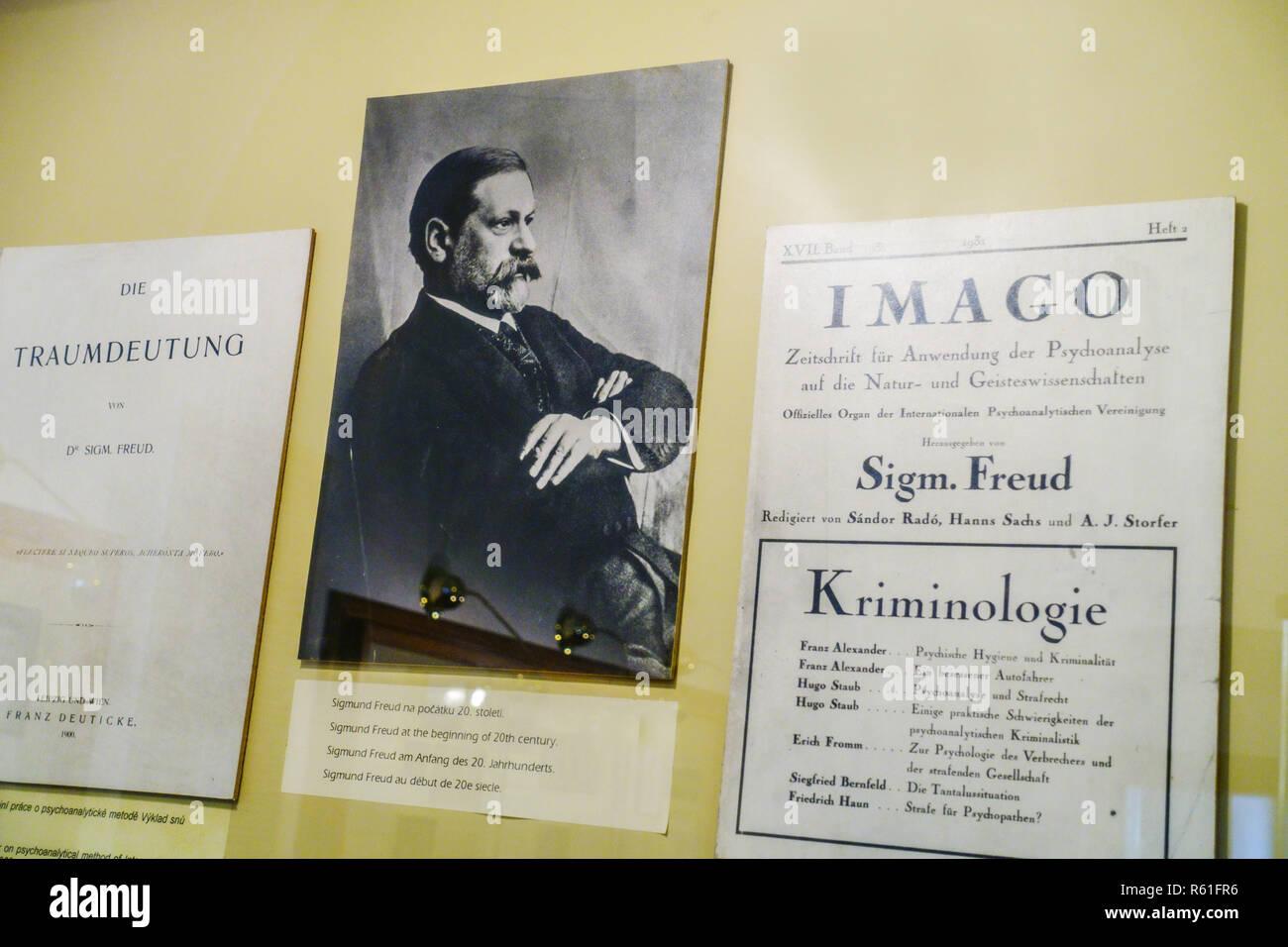 Sigmund Freud, Musée de la ville de Pribor, northern Moravia République Tchèque Photo Stock