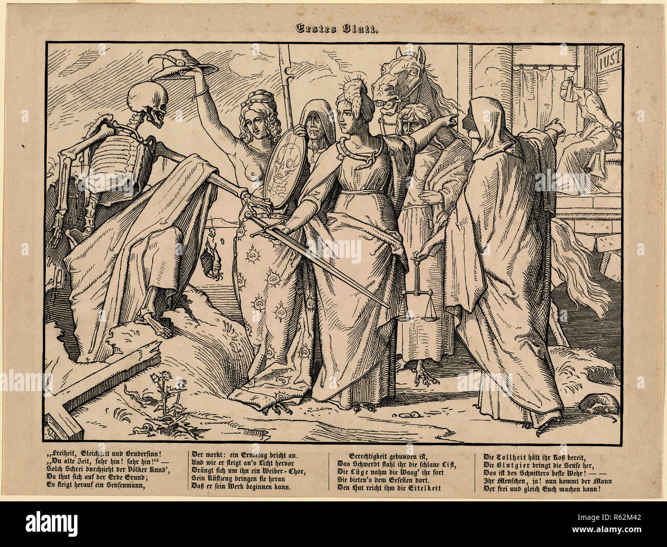 Wood Engraving By Alfred Rethel 1816 1859 Photos Wood Engraving By