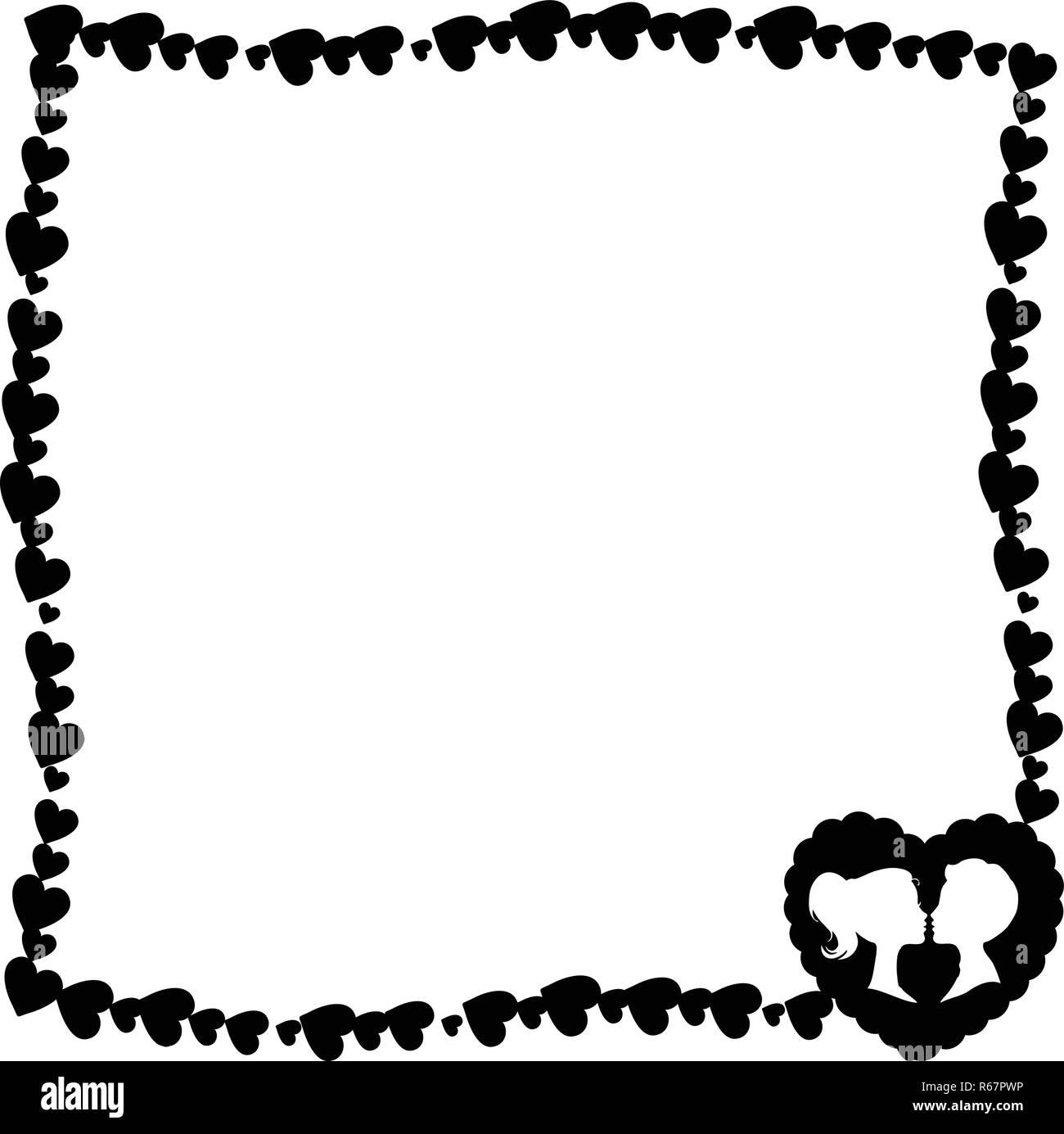 vector retro vintage noir et blanc cadre photo à la frontière de