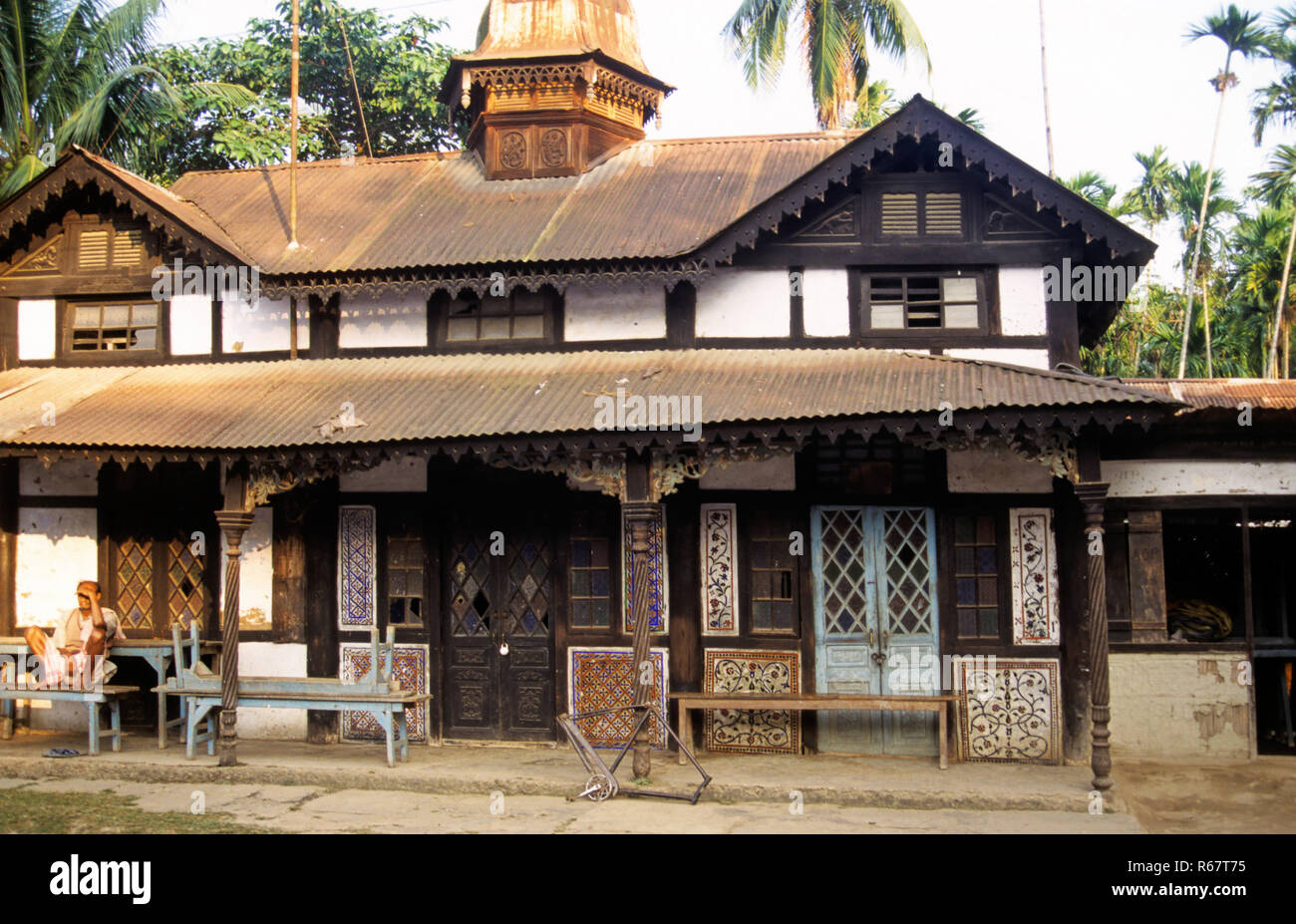 Maison construite en 1983, Guwahati, Assam, Inde Photo Stock