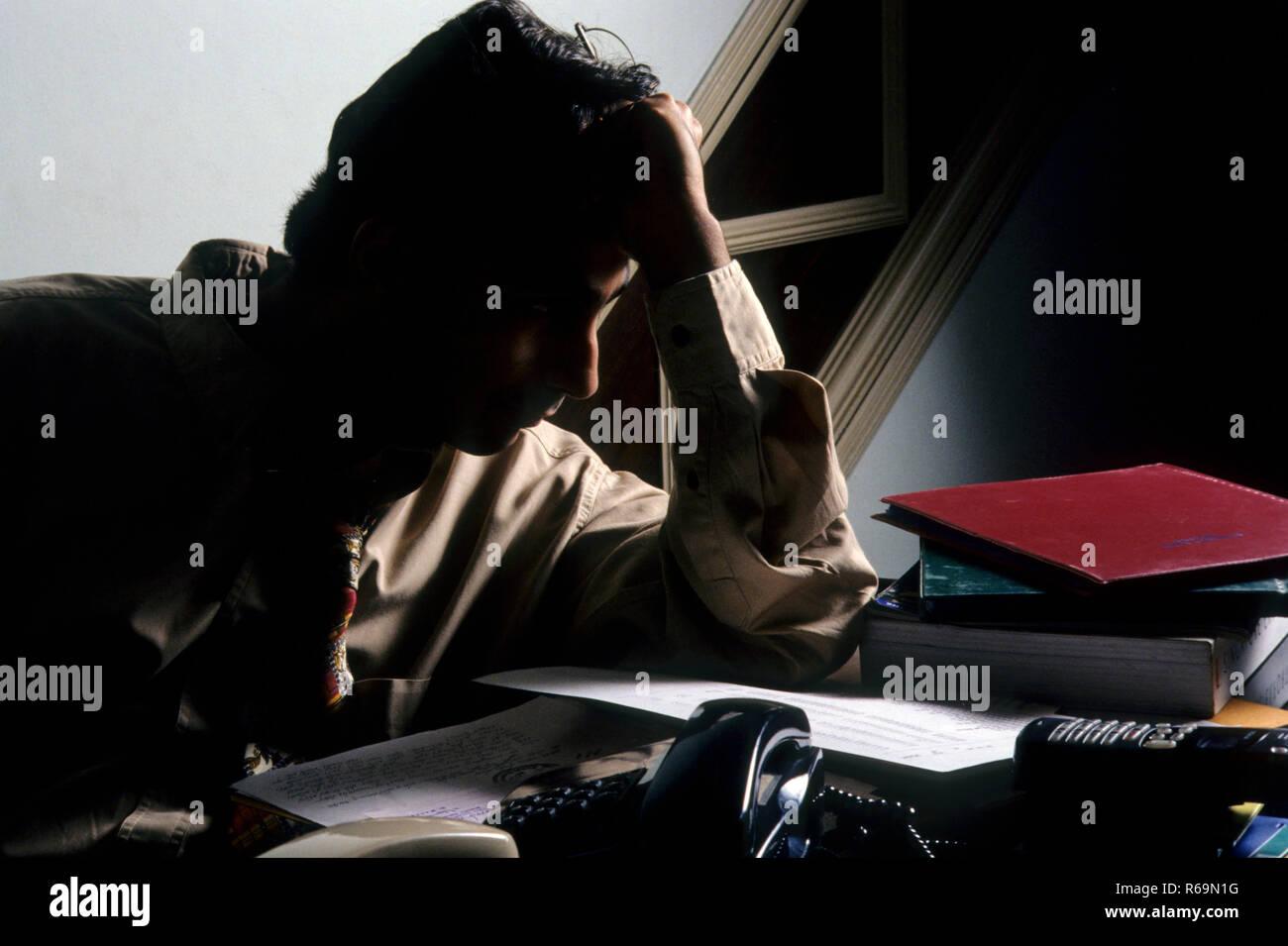 L'homme à la tension, l'Inde, M. NO 139 Photo Stock