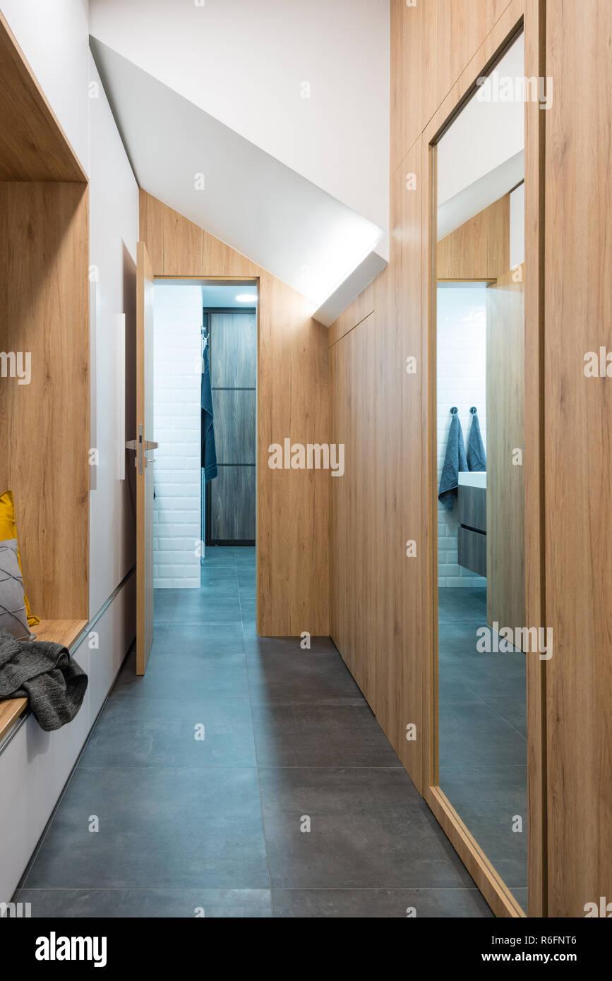 Hall d\'entrée de maison moderne Banque D\'Images, Photo Stock ...