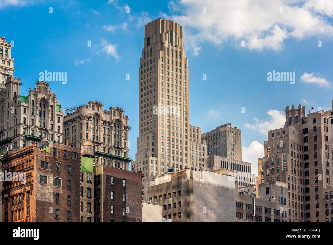 Skyline de New York, New York, USA Banque D'Images