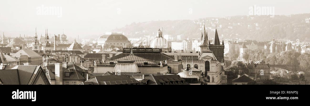 Prag, Morgens, Altstadt, panorama Photo Stock