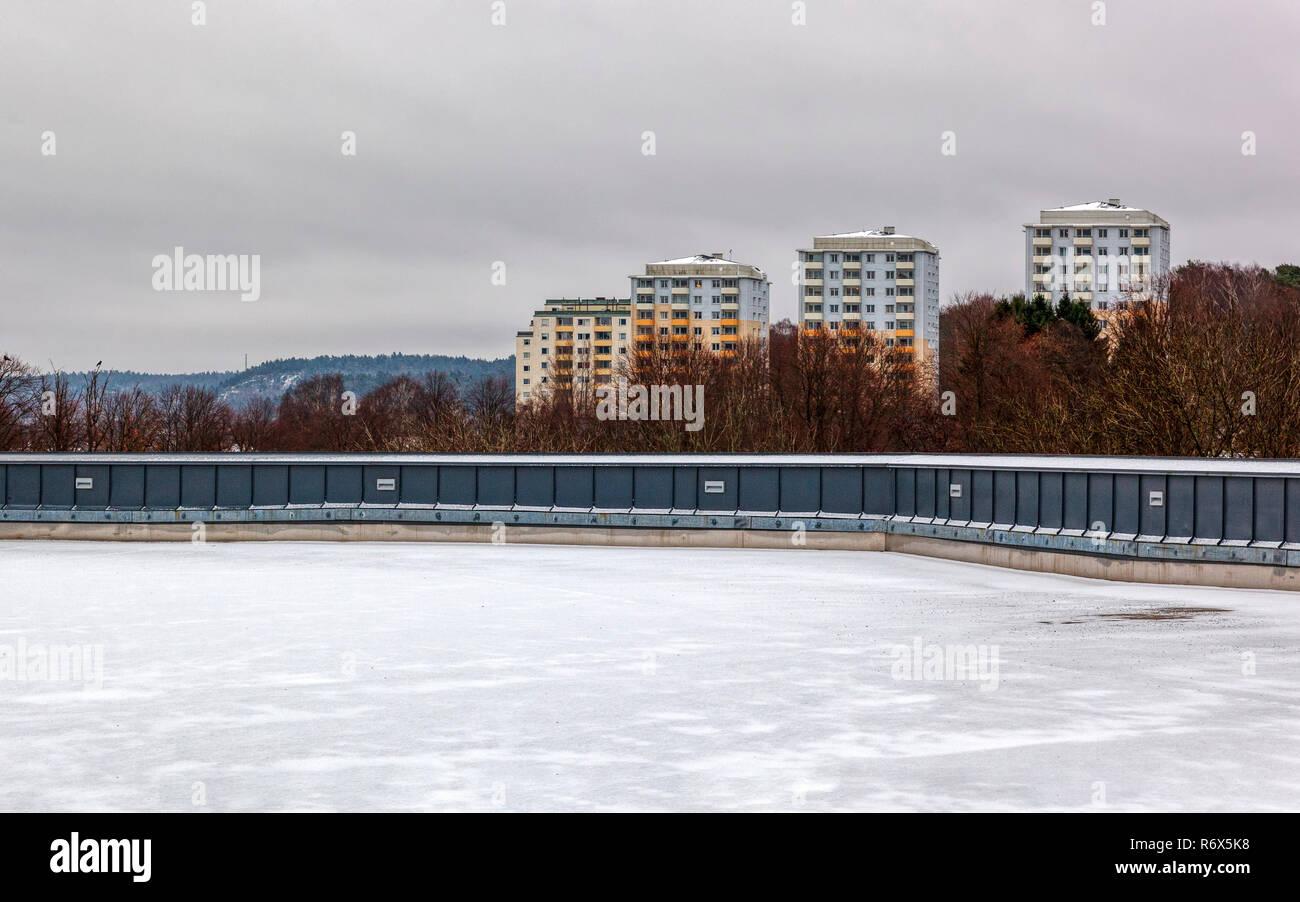 Vue lointaine du générique des tours d'habitation Photo Stock