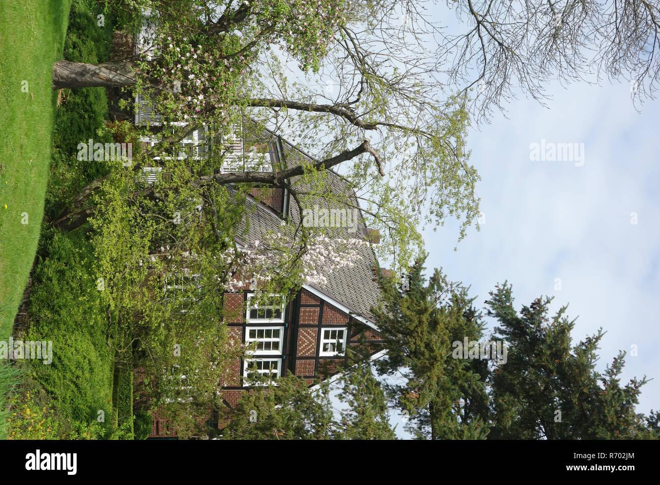 Bâtiment résidentiel cachés dans le vieux pays Banque D'Images