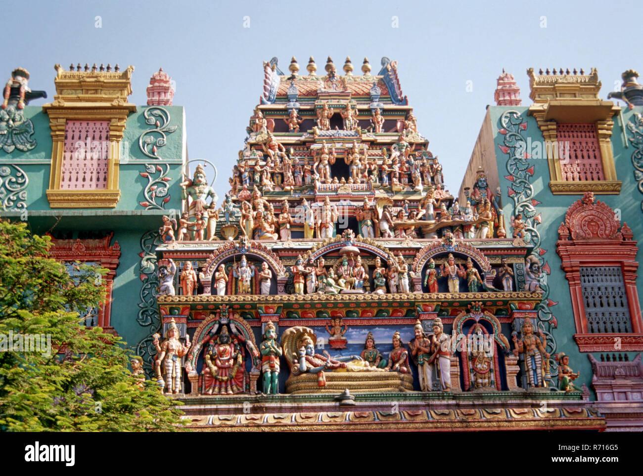 Shri Ram Mandir, Berstein , Mumbai , Bombay, Maharashtra, Inde Banque D'Images