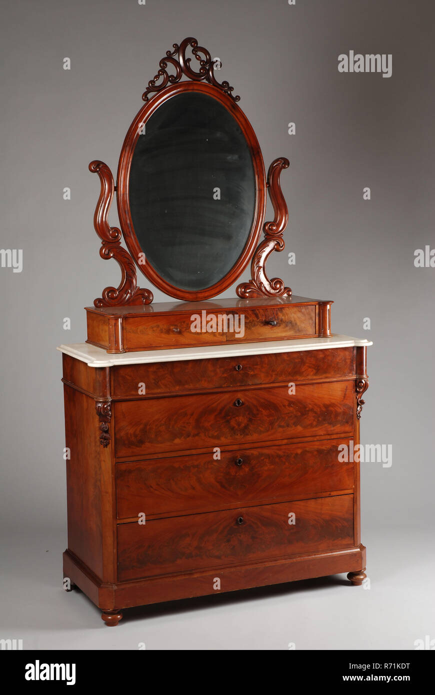 Neo Rococo Acajou Commode Commode Commode Placard Dressing Table