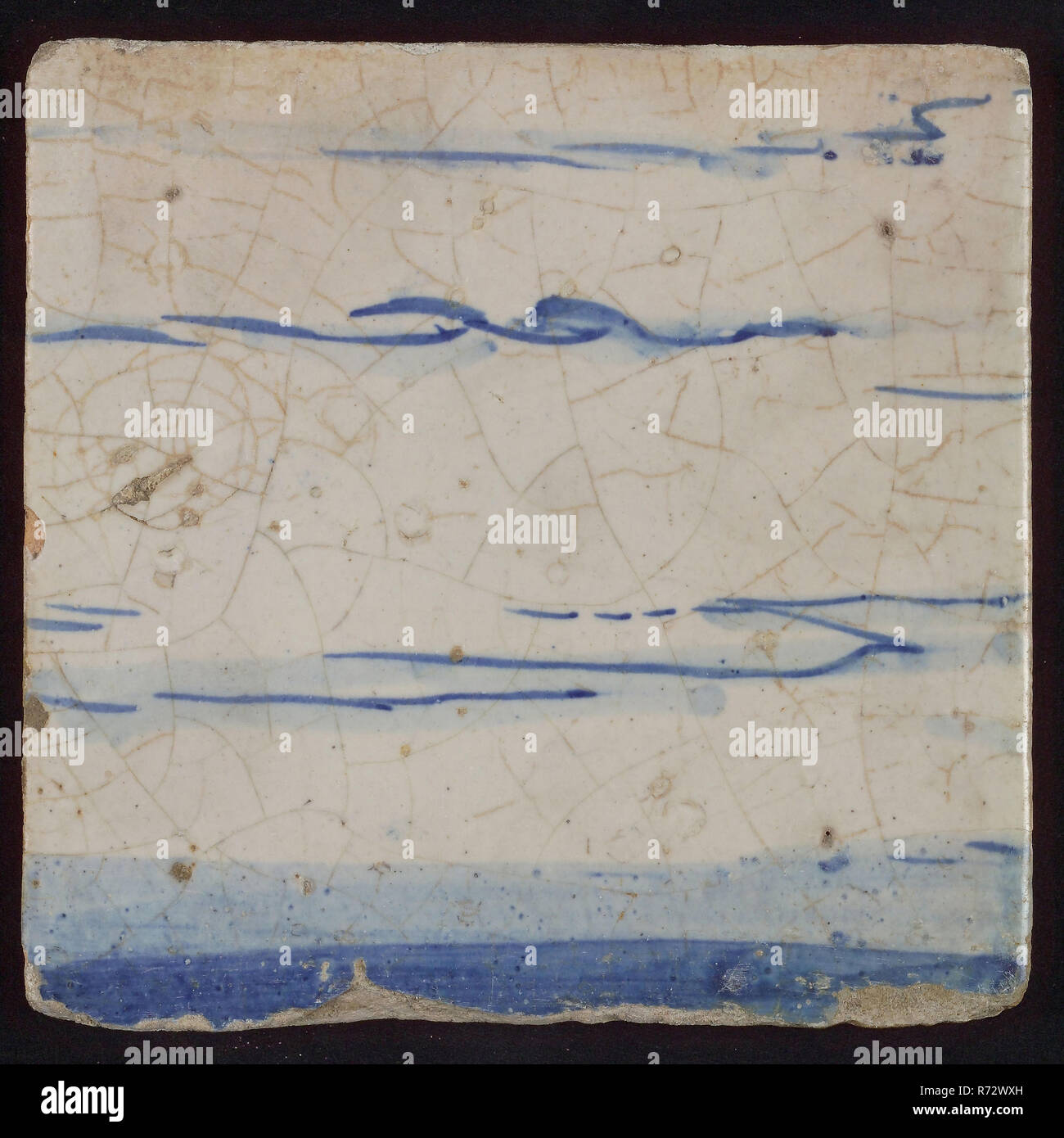 Carreau Avec Dessin Bleu Le Carrelage En Céramique Faïence