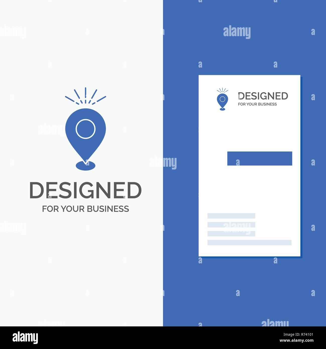 Logo Dentreprise Pour Lemplacement Broche Camping Maison De Vacances La Carte Bleu Vertical Affaires Modele Visite