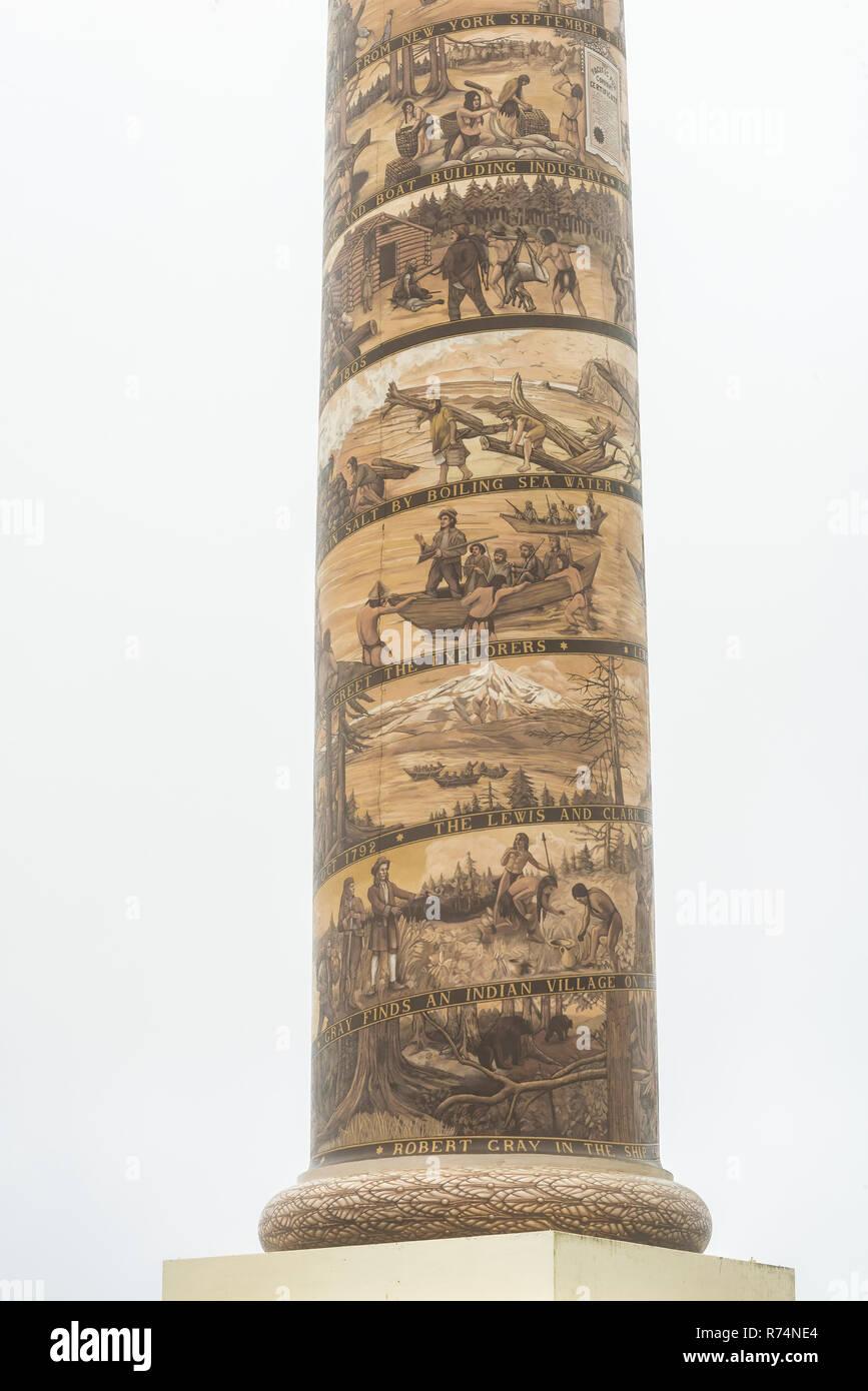 Jalons dans l'histoire américaine, Astoria Column, Coxcomb Hill, Astoria, ou, aux États-Unis, par Dominique Braud/Dembinsky Assoc Photo Photo Stock