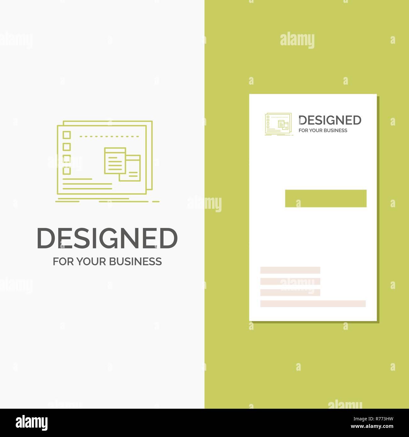 Logo Dentreprise Pour La Fenetre Mac Os Operationnel Programme Lentreprise Verte Verticale Modele De Carte Visite Arriere Plan Creatif Vector