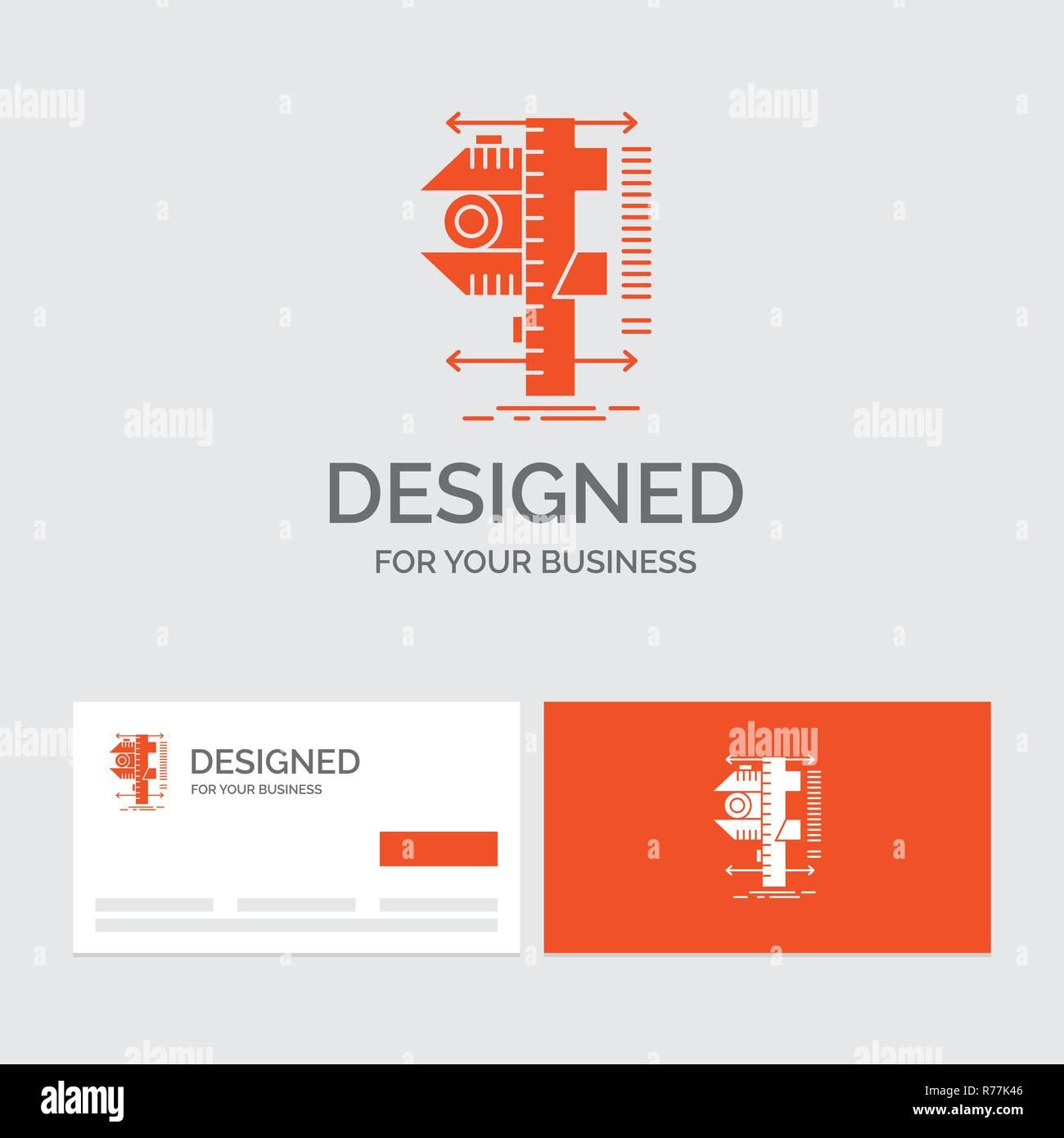 Logo Dentreprise Modele Pour Mesurer Letrier De Frein Etriers La Physique Mesure Cartes Visite Orange Avec Marque
