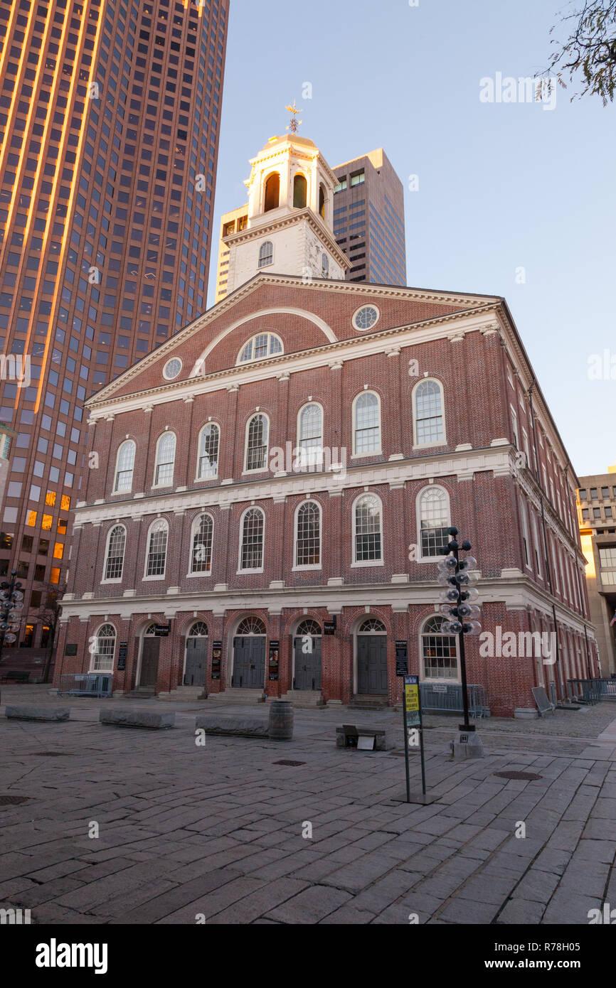 Faneuil Hall, Boston, Massachusetts, États-Unis d'Amérique. Banque D'Images