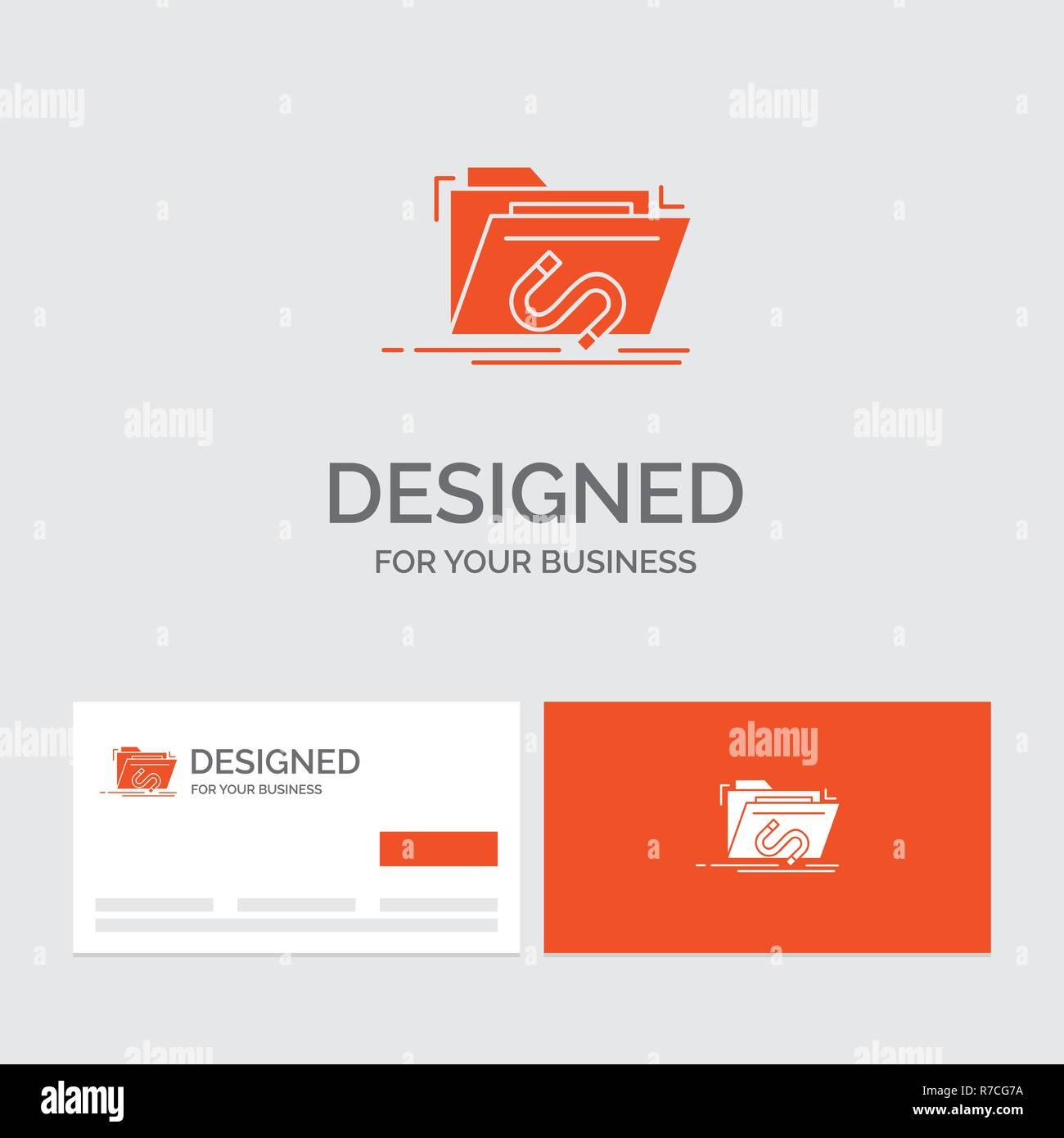 Logo Dentreprise Modele Pour Backdoor Exploiter Fichier Internet Logiciels Cartes De Visite Orange Avec Marque