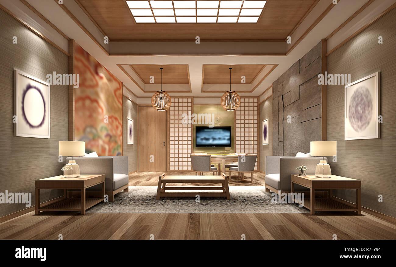 3D render bureau de travail moderne Banque D\'Images, Photo Stock ...