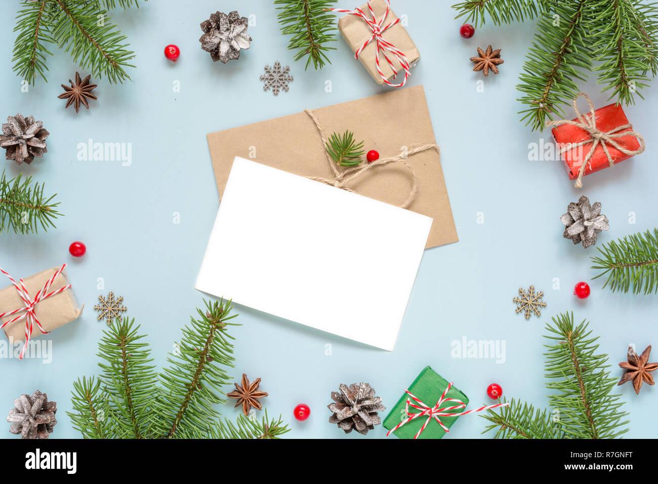 Carte De Voeux Vierge Noël Dans Cadre Fait De Branches De