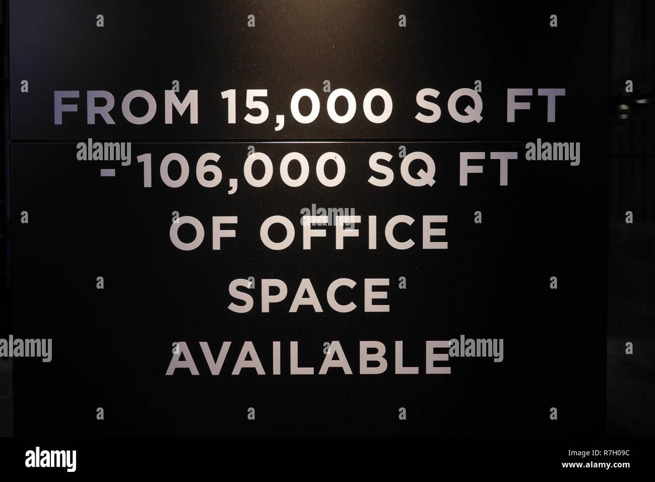 L'espace de bureau à louer à London UK Photo Stock