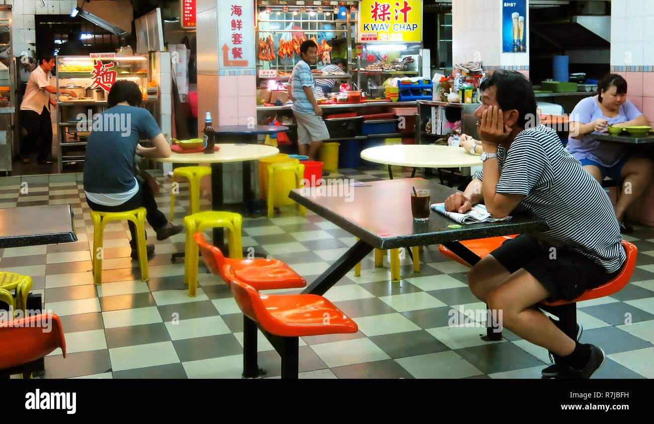 Café/Restaurant de Singapour Banque D'Images
