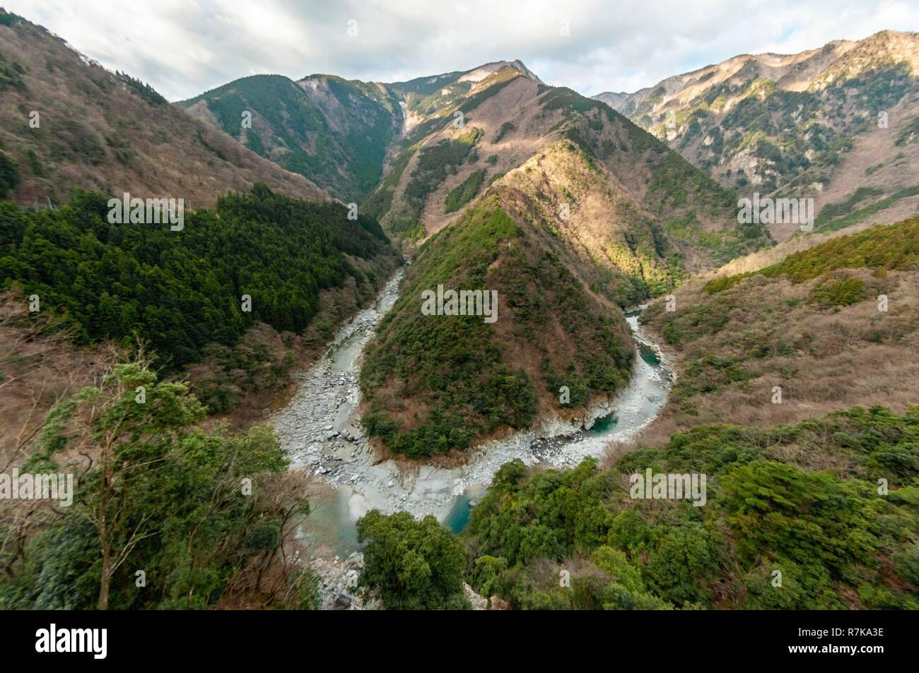 Le Japon, l'île de Shikoku, Préfecture Tokushima, Hinoji Valley Photo Stock
