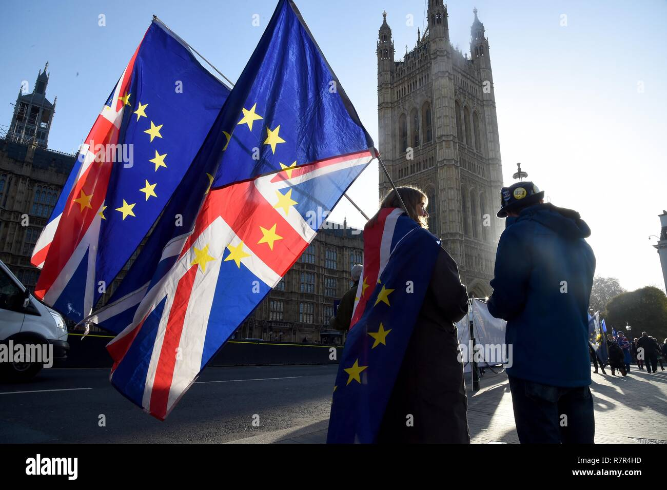 Londres, Royaume-Uni. 11Th Dec 2018. Brexit protestations, Westminster, London Crédit : Finnbarr Webster/Alamy Live News Banque D'Images