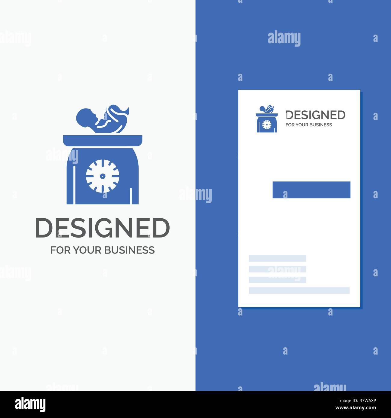 Logo Dentreprise Pour Le Poids Bebe Nouveau Ne Balances Gamin Bleu Vertical Affaires Modele De Carte Visite