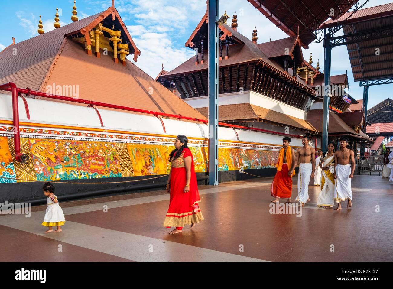 L'Inde, Etat du Kerala, Guruvayur, lieu de pèlerinage autour de Sri Krishna temple Banque D'Images