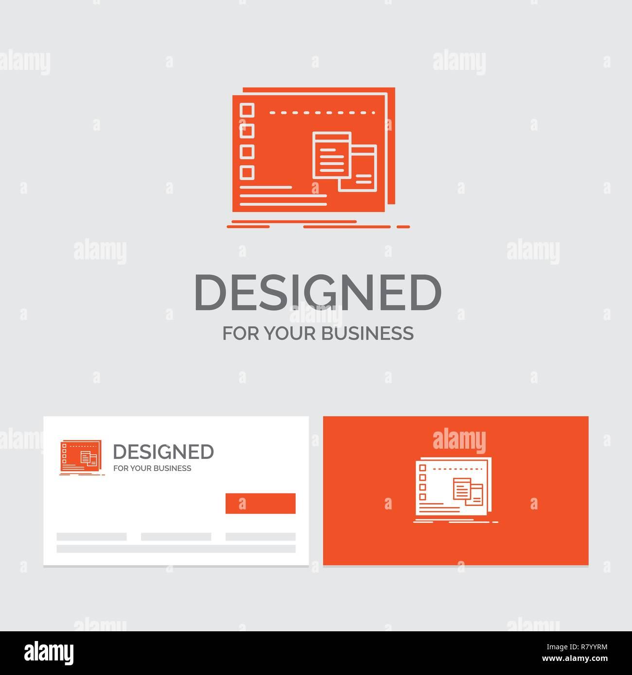 Logo Dentreprise Modele Pour Fenetre Mac Os Operationnel Programme Cartes De Visite Orange Avec Marque