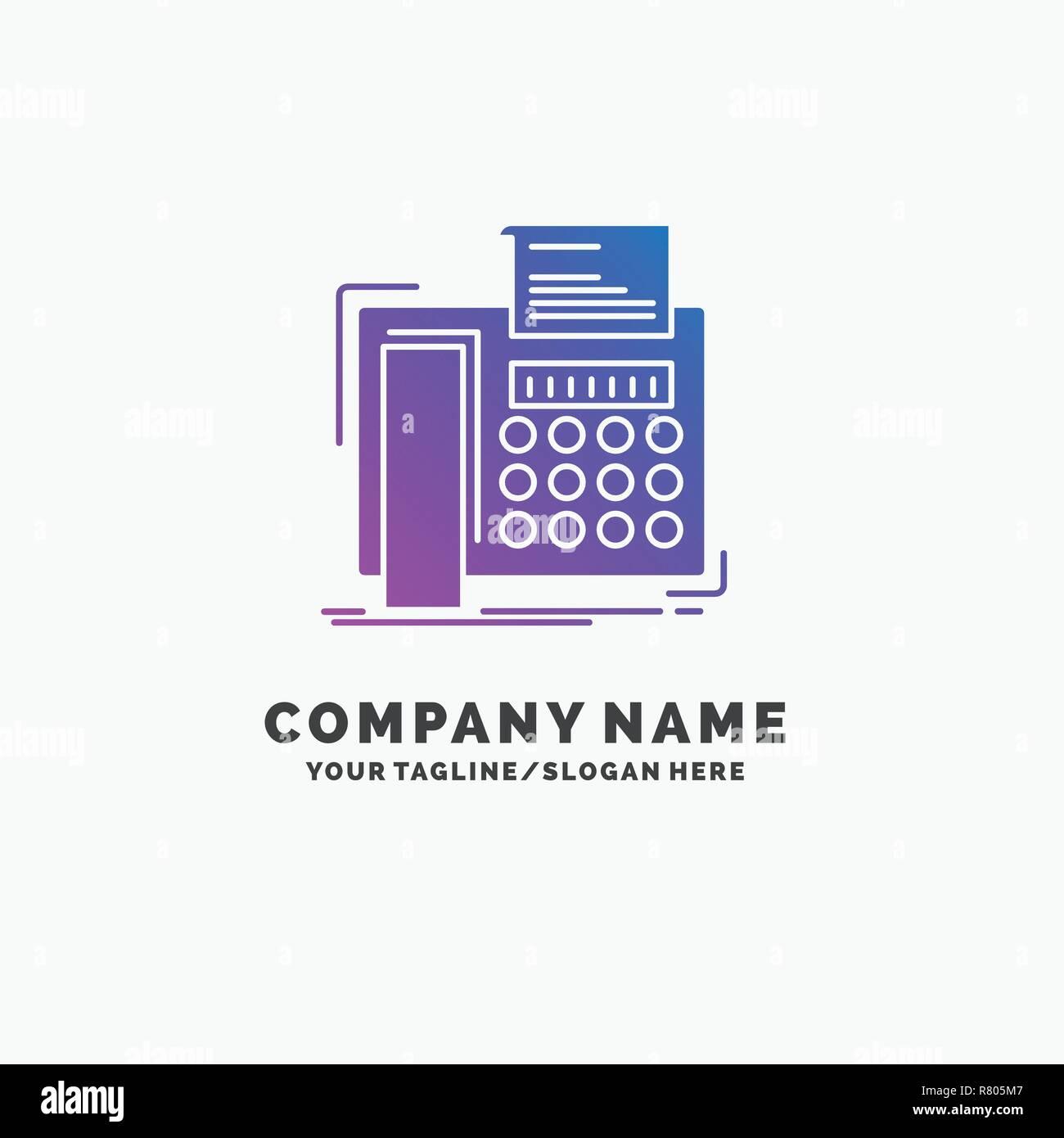 Fax Telephone Telecopie Message La Communication D Entreprise Modele Logo Violet Place Pour Accroche Image Vectorielle Stock Alamy